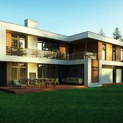 Проект современного частного дома в России Sboev3_Architect Дома в стиле минимализм