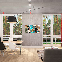 INCUBE Алексея Щербачёва Industrial style living room