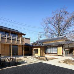 外観 木の家設計室 アトリエ椿 クラシカルな 家 木 木目調