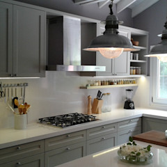 Cocina con estilo Silvina Lightowler - Diseño a medida Cocinas clásicas Gris