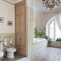 Светлая квартира ANIMA Ванная комната в скандинавском стиле