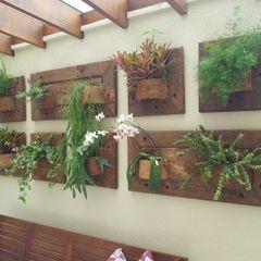 A Varanda Floricultura e Paisagismo Jardines de invierno rústicos