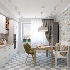 Скандинавское настроение Ekaterina Donde Design Кухня в скандинавском стиле
