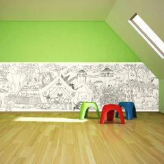 Jungle Half Wall Wallpaper Funwall