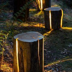 Cracked Log Lamps Duncan Meerding 정원조명