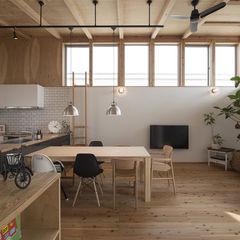 株式会社建楽設計 Moderne woonkamers