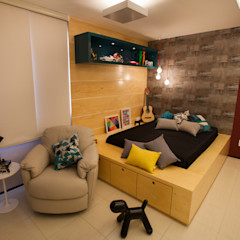 Passo3 Arquitetura Eclectic style bedroom