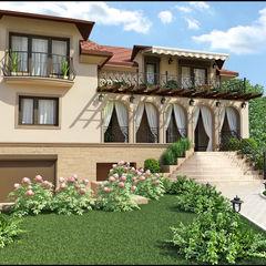 Реконструкция дома Rash_studio Терраса в средиземноморском стиле