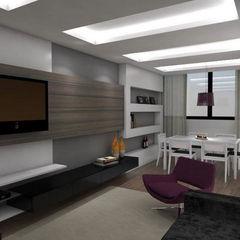 Arquitetura do Brasil Modern Living Room