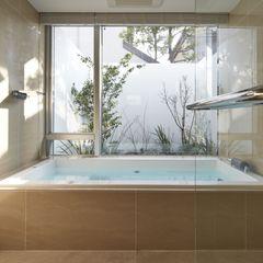 SAKURA SAKURA SAKURA HOUSE Mアーキテクツ|高級邸宅 豪邸 注文住宅 別荘建築 LUXURY HOUSES | M-architects モダンスタイルの お風呂