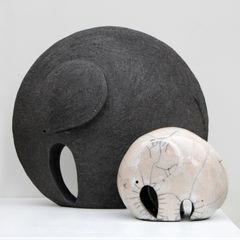 Nathalie Landot ArtworkSculptures Ceramic Black