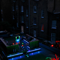 Mews House Islington with roof terrace Quirke McNamara Industrial style garden Grey