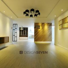 디자인세븐 Living room Wood Wood effect