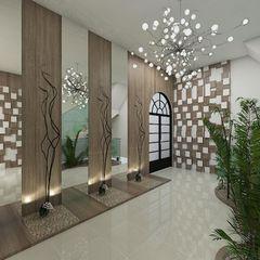 Plano A Studio Pasillos, vestíbulos y escaleras eclécticos