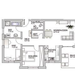 Wohnung 1.3 Baudesign Laupheim GmbH & Co. KG