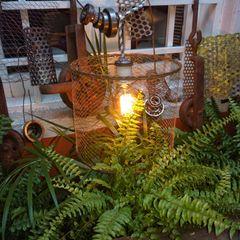 Lamparas Vintage Vieja Eddie Garden Accessories & decoration Iron/Steel Multicolored