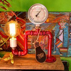 Lamparas Vintage Vieja Eddie ArtworkPictures & paintings Iron/Steel Red