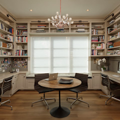 Fire Restoration in Chevy Chase Creates Opportunity for Whole House Renovation BOWA - Design Build Experts اتاق کار و درس