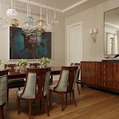 Fire Restoration in Chevy Chase Creates Opportunity for Whole House Renovation BOWA - Design Build Experts اتاق غذاخوری