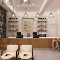 Cloudy & Cotton Pet Grooming & Coffee Shop, Lippo Mall Puri JESSICA DESIGN STUDIO Scandinavian style dining room