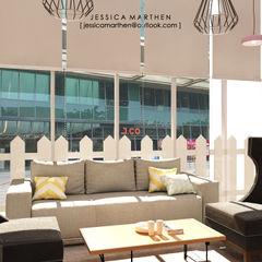 Cloudy & Cotton Pet Grooming & Coffee Shop, Lippo Mall Puri JESSICA DESIGN STUDIO Living room