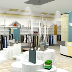 China - Shop Interior Design Yunhee Choe Industrial style dressing room Wood Beige