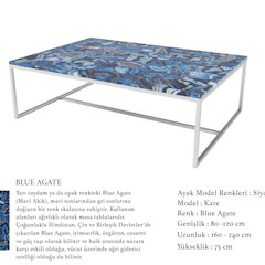 POLİMER DECOR Mermer Masa Mutfak Ve Banyo Tezgahları Uygulama Merkezi Living roomSide tables & trays Marble Blue