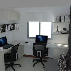 Naromi Design Minimalst style study/office Wood White