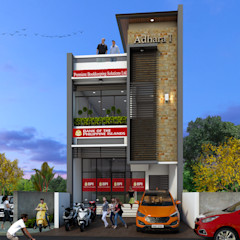 2-Storey with Penthouse Mixed-Use Building CB.Arch Design Solutions Commercial Spaces