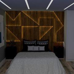 STUDIO SPECIALE - ARQUITETURA & INTERIORES Dormitorios pequeños Madera Acabado en madera