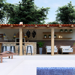 Studio MP Interiores Patios & Decks Wood Wood effect