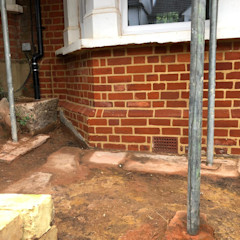 After brick repointing S.J. Pointer