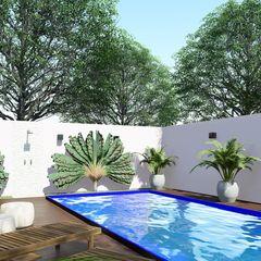 Studio MP Interiores Garden Pool