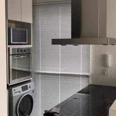 D4-Arquitectos Small kitchens Glass White