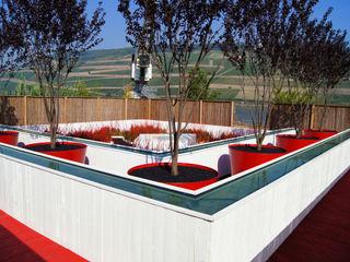 Zwischennutzung: Jardins surprise - La couleur des éléments Planungsbüro STEFAN LAPORT Moderner Garten