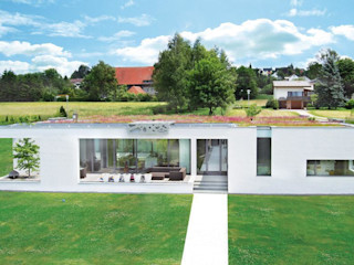 Wohnhaus L., Ertingen Optigrün international AG Ausgefallene Häuser