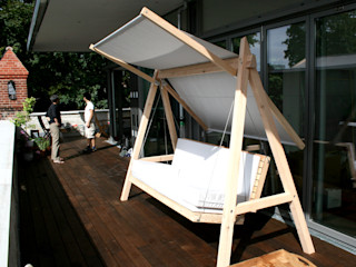 Hollywoodschaukel Pool22.Design GartenMöbel Holz Weiß