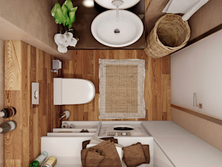 Angelina Alekseeva Minimalist bathroom