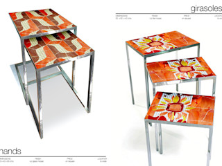 Martin Brown Mosaics ห้องทานข้าวโต๊ะ