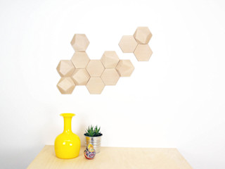 Bee Apis, módulos de madera para decorar tu pared Monoculo Design Studio ArteObjetos artísticos