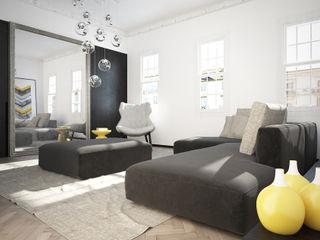 Shoreditch Apartment YAM Studios Moderne Wohnzimmer