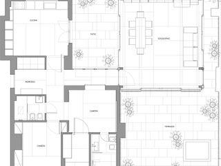casa t Piano B Architetti Associati Case in stile asiatico