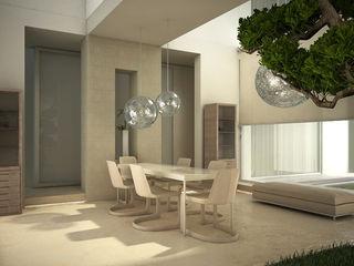 Private Residence in New Delhi Barbara Pizzi Modern dining room