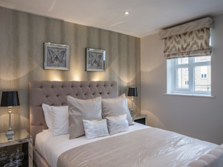 Bedroom _ Canary Wharf Millennium Interior Designers Спальня