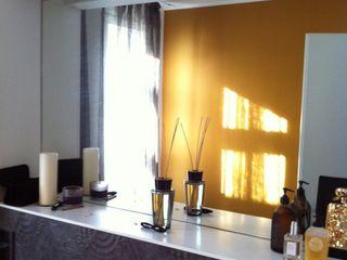 WC - Akzentwand mit KT-Color Kupferbronze Jakob Messerschmidt GmbH - Malerfachbetrieb Ausgefallene Badezimmer