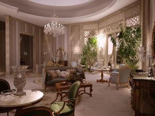 VIlla in Doha Scultura & Design S.r.l. Soggiorno eclettico