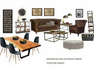 Mesa de comedor estilo industrial Tatiana Doria, Diseño de interiores ComedorMesas