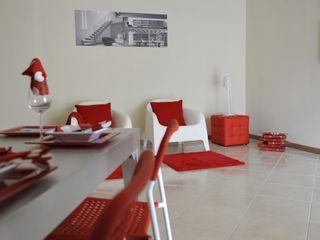 Appartamento campione in palazzina di nuova costruzione Gabriella Sala Design Sala da pranzo moderna