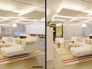 Vidrios de privacidad Eclectic style office buildings