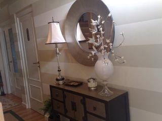 SERRANOS Studio Eclectic style corridor, hallway & stairs Metallic/Silver